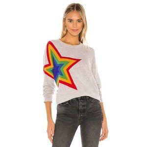 NWT Sundry Star Crew Neck Sweater in Heather Grey
